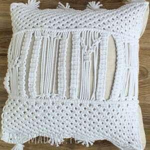 ręczne wykonanie poduszki dekoracyjna poduszka makramowa z napisem home