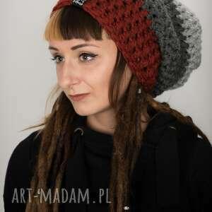czapki czapka dreadlove triquence 26 - rdzawa, rasta, dread, dready, na dready