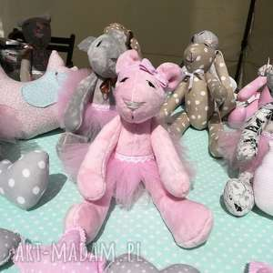 milusia różowa misia, miś, tilda, pink, urodzint