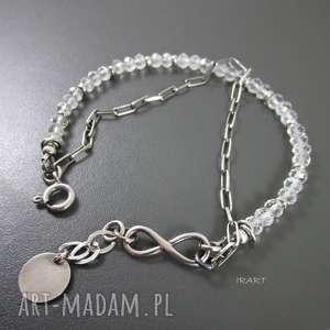 bransoletki nieskończoność z topazem, topaz, srebro, bransoletka biżuteria