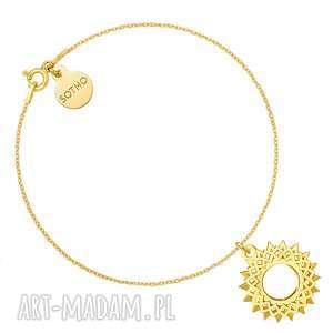 handmade bransoletki złota bransoletka z rozetą