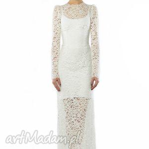 koronkowa suknia ślubna, wieczorowa, koronka