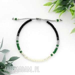 Bransoletka Minimal - Autumn Green, unikalna, jesienna, modna, elegancka, delikatna