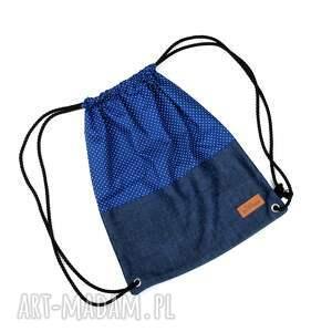 Prezent Worek plecak groszki granatowy Unisex, worek, plecak, groszki, kropki, unisex