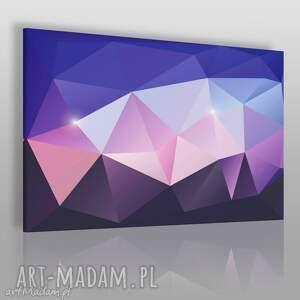 handmade obrazy obraz na płótnie - kryształ fioletowy różowy - 120x80 cm (62502)