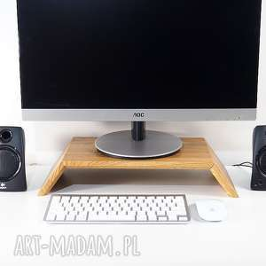 Drewniana podstawka pod monitor - stojak monitor, komputer, drewno, stylowe