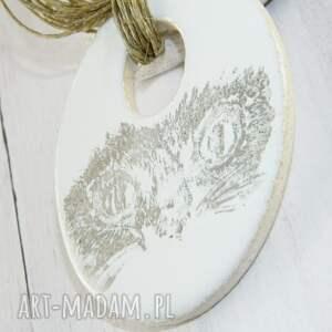 hand made naszyjniki ceramiczny naszyjnik z art clay -kotek