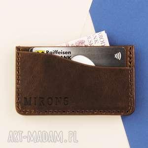 Card Holder Brązowy, portfel, męski, cardholder, karty, skóra, skórzany