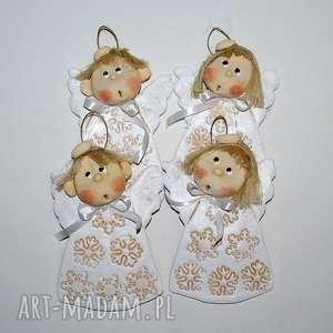 ozdoby świąteczne śniegu wiele - aniołki, anioły, dekoracja, prezent, ozdoba, święta
