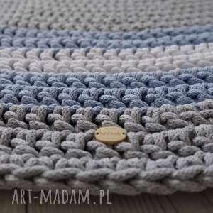 dywan multicolor 110 cm - rezerwacja, na szydełku, ze sznurka