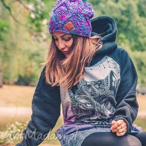 czapki im a hero skarby lasu, jesień, zima, czapka, włóczka, kolorowa, krótka