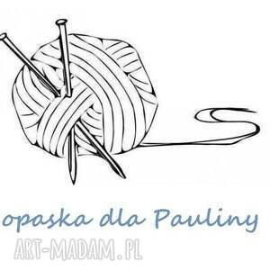 ręcznie zrobione opaski opaska dla pauliny wełna turkusy
