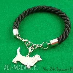 Prezent Bransoletka basset hound pies nr.24, bransoletka, pies, prezent, rękodzieło