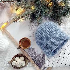 handmade na święta prezenty czapka wełniana z jedwabiem