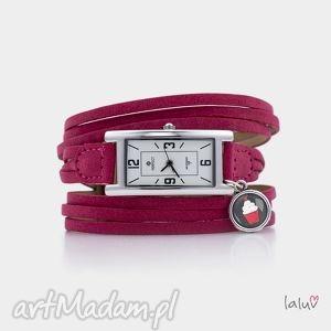 zegarek na skórzanej bransolecie cupcake, babeczka, słodkości, słodkie, słodycze