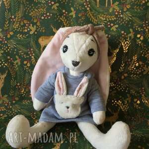 ręczne wykonanie maskotki pani królikowa, królik maskotka, przytulanka, króliczek