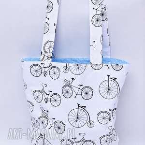 torba ekologiczna shopperka na zakupy zakupowa siatka bawełniana rowery