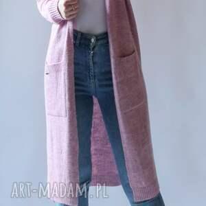swetry kardigan,płaszczyk damski, długi, dzianinowy, kardigan, sweter