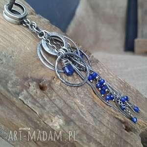 Lapis lazuli - kolczyki 002 klipsy arvena srebro oksydowane