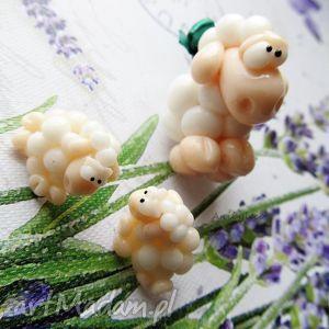 handmade komplety komplet białe owce
