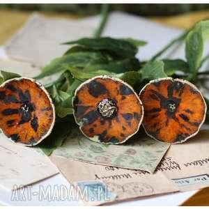 handmade ceramika kwiaty tygrysie