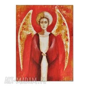anioł electa, obraz ręcznie malowany, anioł, obraz, autorski, malowany