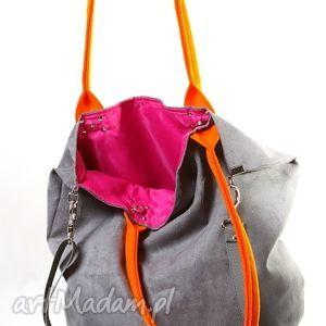 ręczne wykonanie torebki mana mysza orange