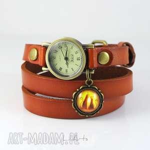 Prezent Bransoletka, zegarek - Kotki karmelowy, skóra, zegarek, bransoletka