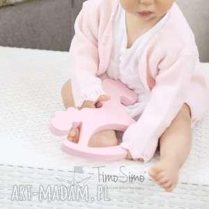 handmade pokoik dziecka konik na biegunach ozdoba noe (różowy)