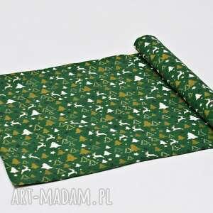bieżnik świąteczny bawełniany, ozdoba na stół obrus