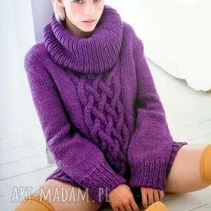 sweter boras, sweter, wełniany, gruby, ciepły, golf, prezent swetry, na