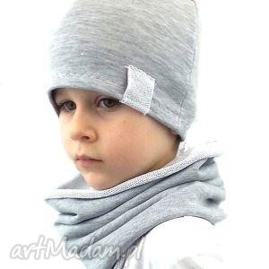 ręcznie wykonane czapki komplet dla chłopca
