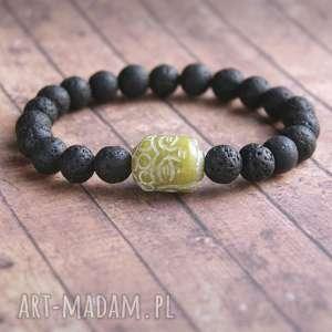 męska bransoletka rzeźbiony budda, buddyjska, buddyzm, talizman biżuteria