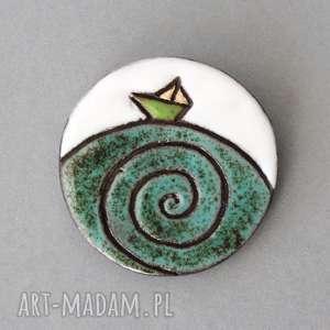 handmade broszki ahoj - broszka ceramika