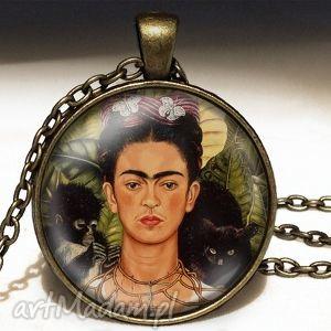 frida kahlo - duży medalion z łańcuszkiem egginegg - orientalny