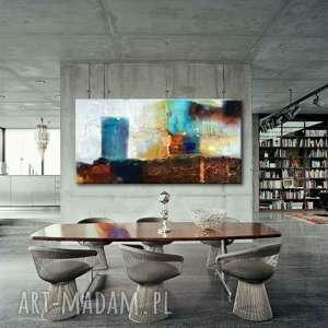 Nowoczesne obrazy abstrakcyjne do salonu 80x170cm dekoracje art
