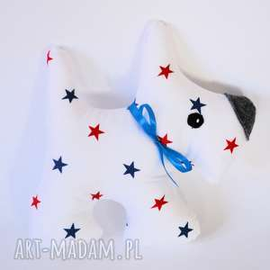 hand-made maskotki pies terrier adaś