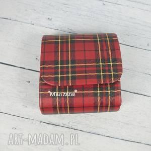 kopertówka mała torebeczka manzana czerwona kratka, kopertówka, manzana