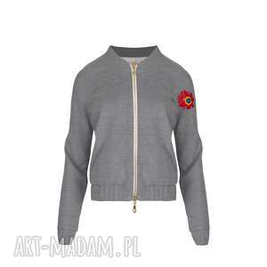 BOMBERKA MONIKA 8139, bluza-bomberka, bluza-haftowana, bluza-elegancka