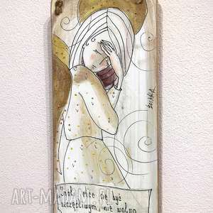 deseczka z sentencją nr 49, aniołek, anioł, sentencja