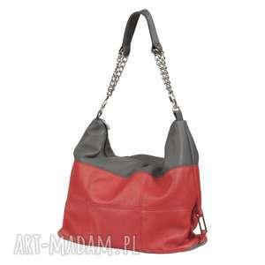 05-0003 Torebka czerwona z łańcuszkiem na ramię FALCON, markowe-torebki