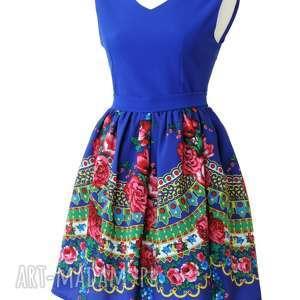Sukienka góralska folkowa z tiulem CLEO, sukienka, góralska, folkowa, folk, cleo