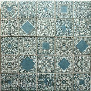 Kafle zestaw szaro-turkusowy ceramika pracowniazona kafle