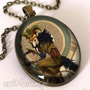 joker - owalny medalion z łańcuszkiem egginegg - naszyjnik, lis