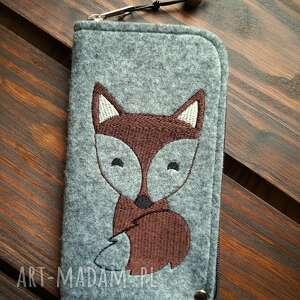 etui filcowe na telefon - lisek, smartfon, pokrowiec, futerał, fox, prezent