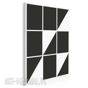 obraz na płótnie - minimalizm trójkąty 50x70 cm 00701, trójkąty