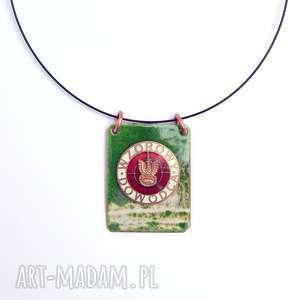 oryginalny prezent, wisiorki wisior emaliowany, emalia jubilerska, odznaka