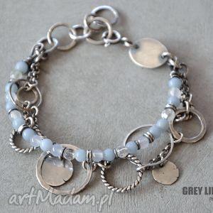 ręcznie robione bransoletki bransoletka mieszana jasnoniebieska