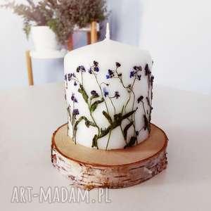 święta prezent, świeczka niezapominajki, świeca, świeczka, eko, las, leśna, kwiaty