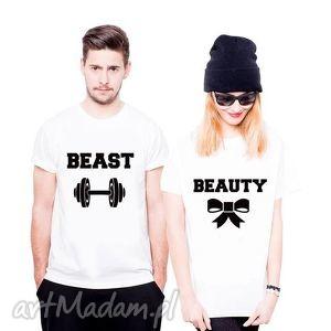 Koszulka dla Par BEAST - BEAUTY , fun, love